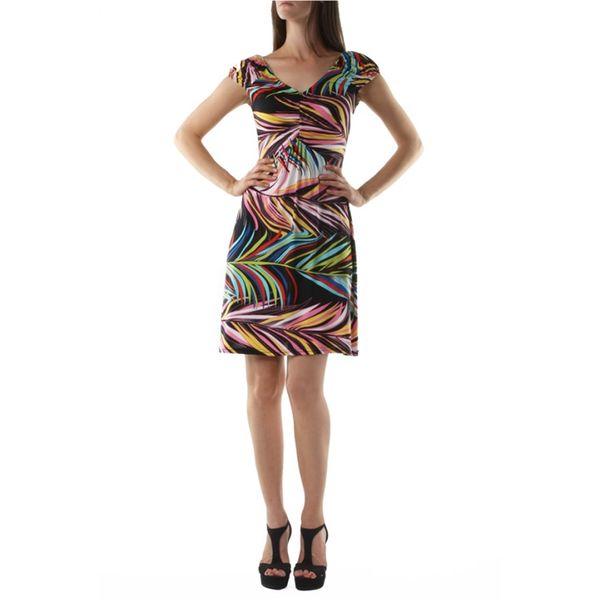Dámské šaty fifilles de paris mona multicolor černé