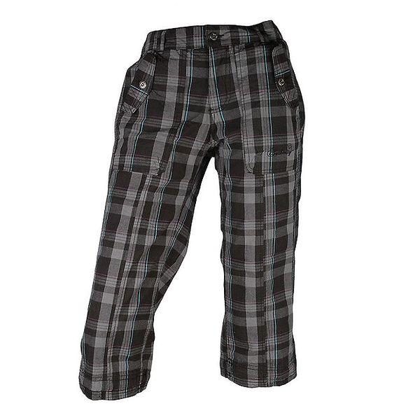 Dámské černé kostkované kalhoty Authority ve 3/4 délce
