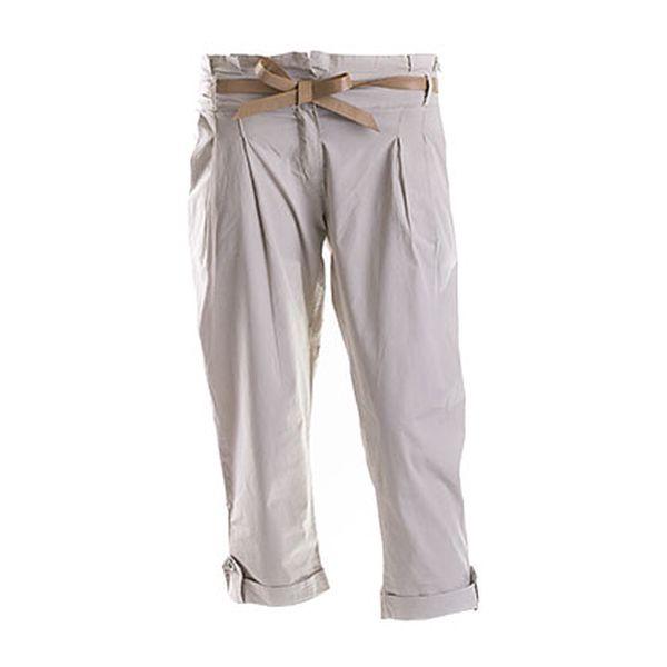 Béžové kalhoty s páskem