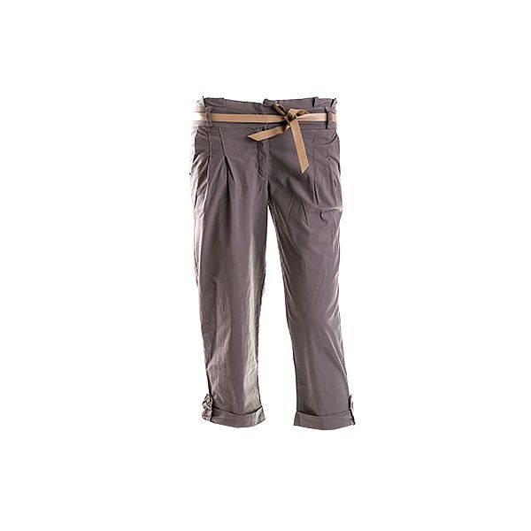 Zeleno-šedé kalhoty s páskem