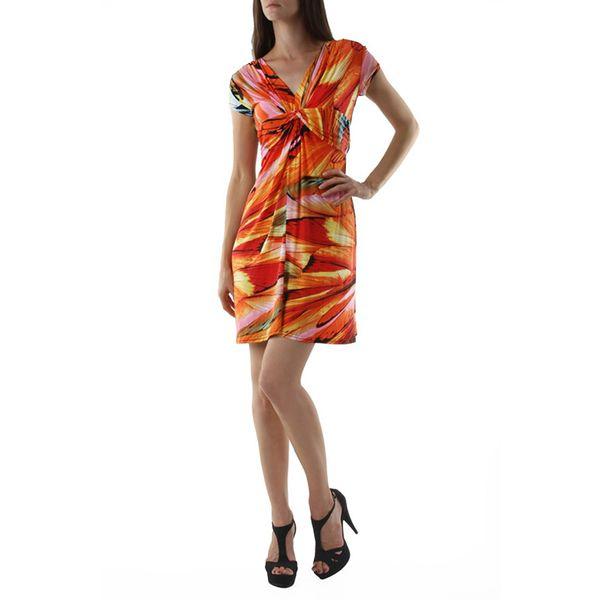 Dámské šaty FIFILLES DE PARIS Valtelina multicolor oranžovo-zelené