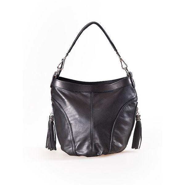 Dámská černá kabelka se střapci Luisa Vannini
