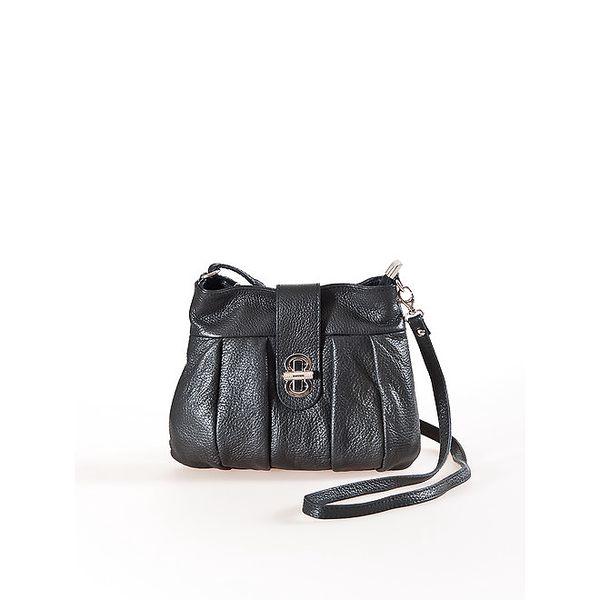Dámská černá mini kabelka na zámeček Luisa Vannini