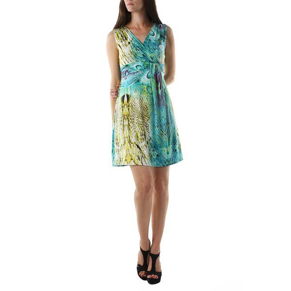 Dámské šaty fifilles de paris spinel modro-žluté