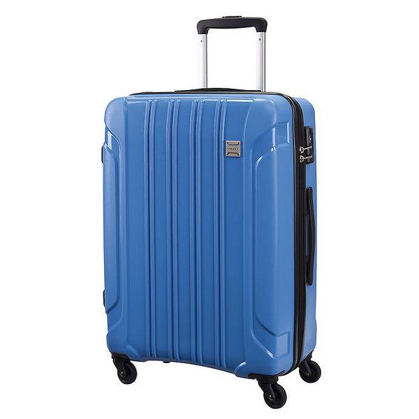 Modrý cestovní kufr na kolečkách Movom