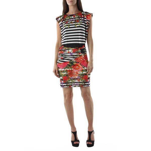 Dámské šaty FIFILLES DE PARIS Rubis multicolor černo-bílé