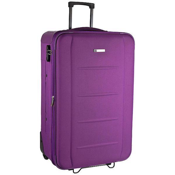 Fialkový látkový kufr na kolečkách Movom