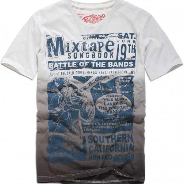 Pohodlné šedé pánské tričko skrátkým rukávem značky Timeout 131084101JE05_07