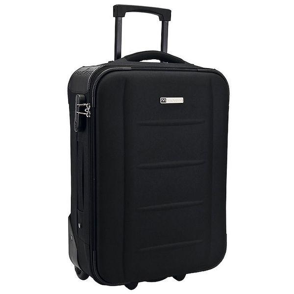 Černý látkový kufr na kolečkách Movom