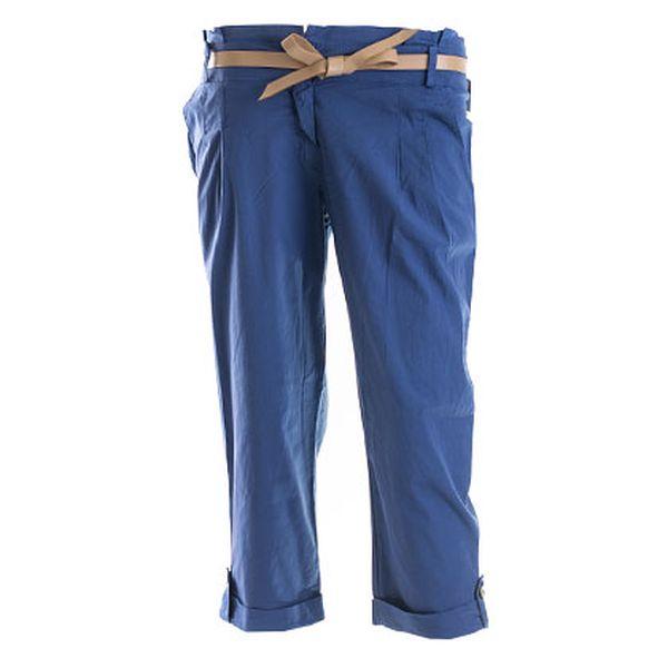 Tmavě modré kalhoty s páskem