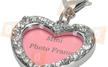 Mini fotorámeček ve tvaru srdce - klíčenka a poštovné ZDARMA! - 202