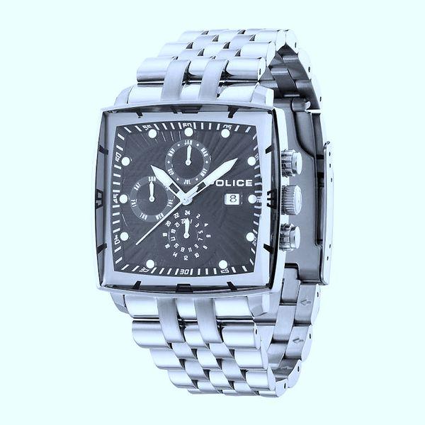 Pánské hodinky Police černostříbrné čtvercový ciferník