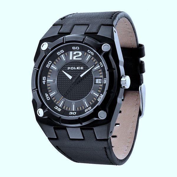 Pánské hodinky Police černé kulatý ocelový ciferník
