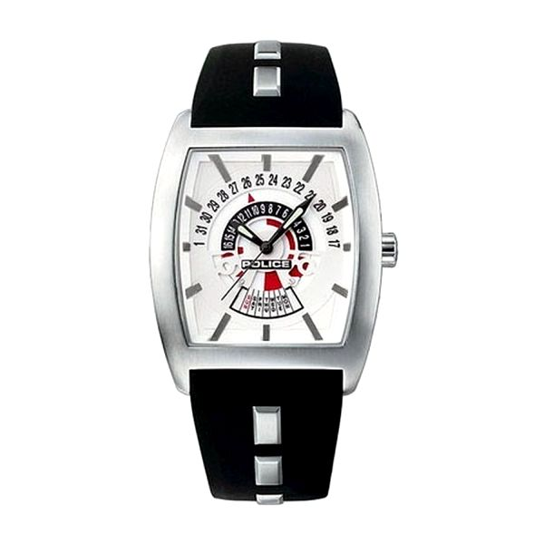 Pánské hodinky Police černo-stříbrné hranaté