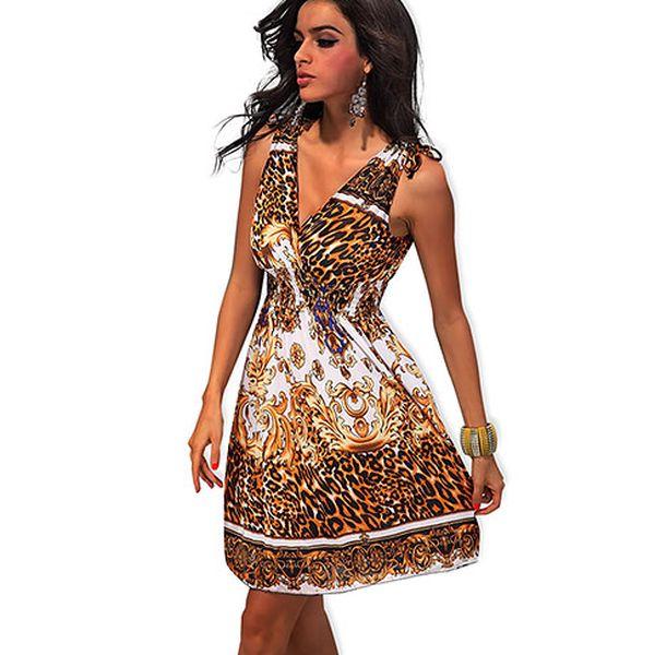 Tygrované krátké šaty