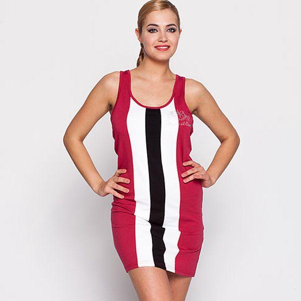 Růžové šaty s vykrojenými zády