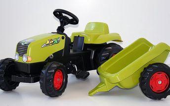 Rolly Toys Šlapací traktor Rolly Kid s vlečkou sv. zelený