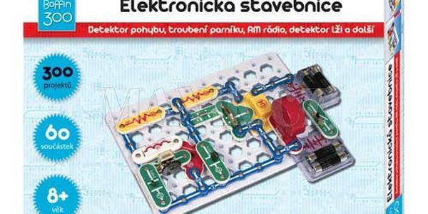 Elektronická stavebnice Boffin 300 obsahuje 60 součástek