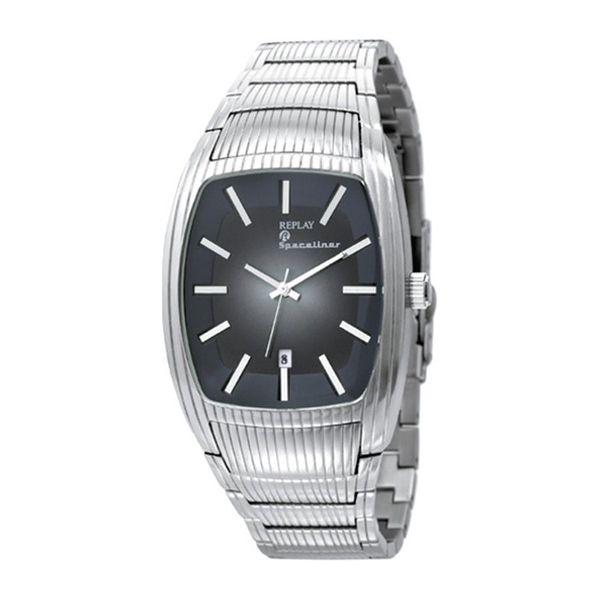 Pánské hodinky Replay stříbrné šedo-černý ciferník