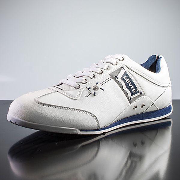 Pánské kožené bílé botasky
