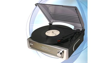Gramofon Roadstar TT-8532 se stereo zesilovačem a s vestavěným reproduktorem