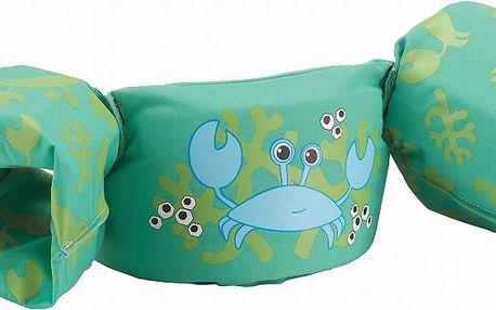 Vestička srukávky pro malé plavce SEVYLOR Plaváček Deluxe zelený - krab