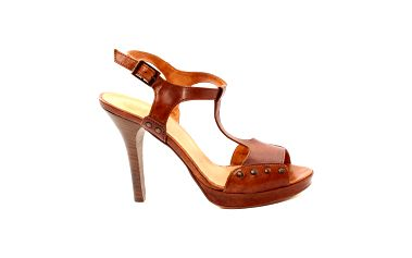 Dámské karamelové sandálky s cvočky Bagatt