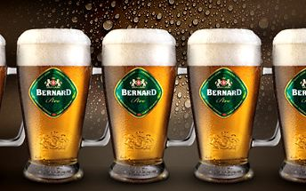 5 chlazených piv v baru Indián