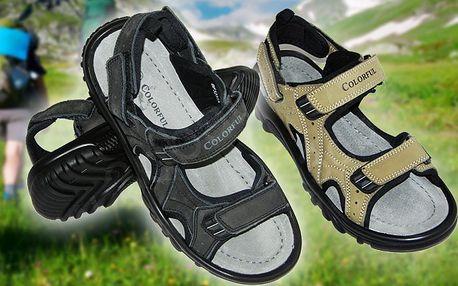 Pánské kožené sandále s poutkem