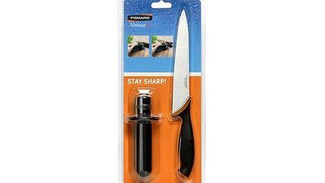 Nůž Fiskars S857195 + ostřič nožů