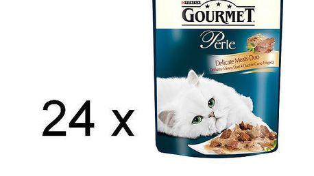 Purina Gourmet Perle Duo s krůtou a jehněčím 24 x 85g