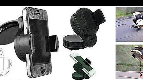 Univerzální DRŽÁK NA TELEFON s umístěním na přední sklo vašeho auta jen za 95 Kč. Vybavte se na cesty kvalitním držákem pro iPhone, Samsung Galaxy či jakýkoliv jiný smartphone.