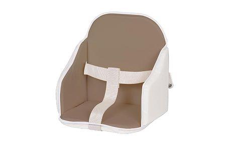 Podložka do židličky hnědo-béžová (oboustranná)