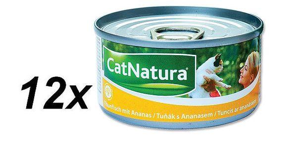 CatNatura Tuňák + Ananas 12 x 85g