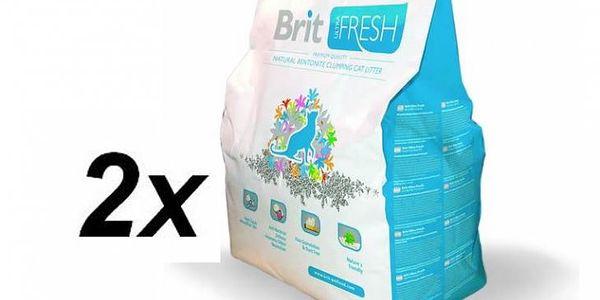 Přírodní hrudkující stelivo pro kočky BRIT Care Ultra Fresh 2 x 10kg