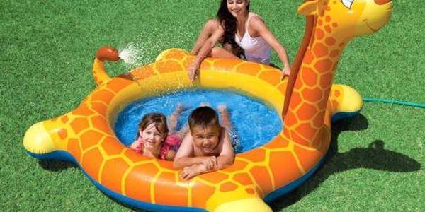 Děti doporučují: Intex dětský bazén žirafa 208x165x122 cm