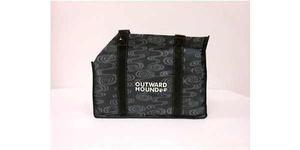 Přepravní taška pro psy a kočky do 6,5 kg, šedo-černá