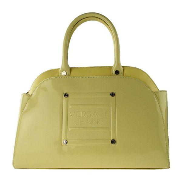 Dámská kabelka Versace světle zelená lesklá