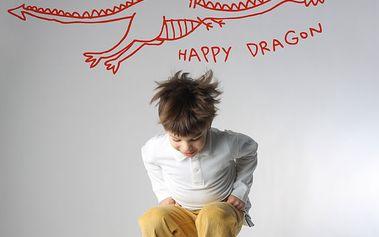 Nálepka na zeď Šťastný drak 57.5x20 cm