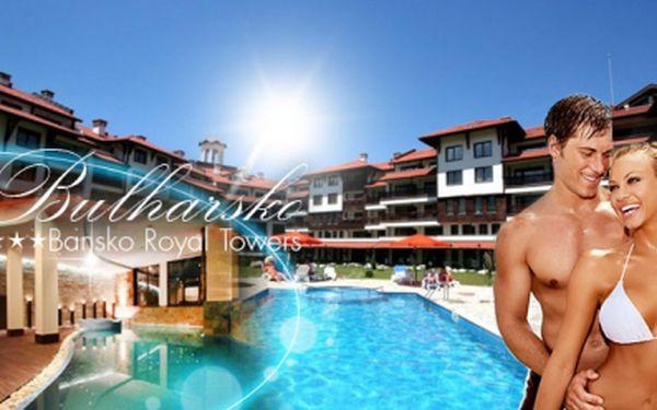 Dovolená ve 4* bansko royal towers hotelu v bulharsku! Pouze 999 kč pro dva na 2 dny s polopenzí a wellness v luxusních apartmánech 80m2! Volný vstup do bazénu, sauny, fitness a mnoho dalších bonusů!