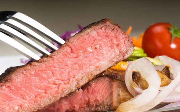 Pštrosí steaky pro DVA jen za 285 Kč v restauraci Veselý Bizon!