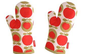 Chňapky Apple Heart, 2 ks - barevnost, která roztančí i váš nenápadný, bílý sporák.