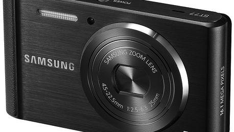 Fototaparát Samsung ST77 Black - 25mm objektiv s5× optickým zoomem a vysokou světelností f/2,5