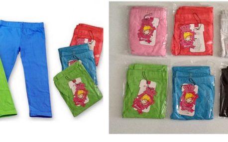 Sada 3 dětských legín ve 4 velikostech a různých barvách, 90% bavlna, 10% elastan