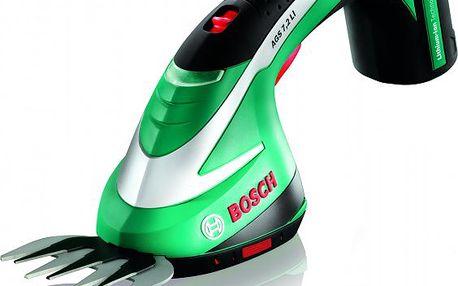 Lehké a výkonné aku nůžky na trávu Bosch AGS 7,2LI sšířkou pracovního nože 8cm.