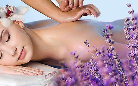 90minutová relaxační aroma masáž z Provence
