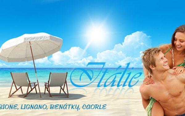 Vyberte si na LAST MINUTE prázdninový víkend v Itálii! CELODENNÍ pobyt u moře v BIBIONE, LIGNANU, BENÁTKÁCH NEBO CAORLE včetně dopravy nyní za neuvěřitelných 1590 Kč! Termín: 30.8.-1.9.2013! Sleva 41%!