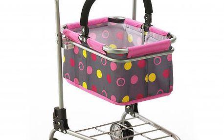 Bayer Chic Nákupní vozík s košíkem - Funny pink
