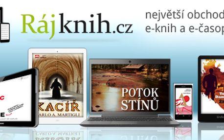 Výjimečná příležitost pro milovníky e-knih. 25% SLEVA na jednu e-knihu dle vlastního výběru.