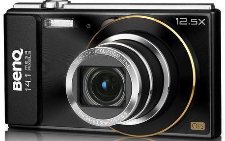 Fotoaparát BENQ GH200 Black s12,5× optickým zoomem vširokoúhlém objektivu 24mm.